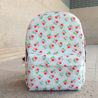 Cute Cherry Canvas Backpack