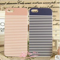 navy stripe colour decoration case for iphone4/4s/5