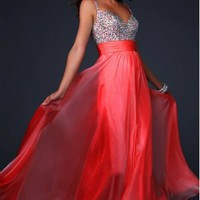 Abendkleider 2013  Empire Sweetheart Floor-length Chiffon Prom Dress with Beading at Msdressy