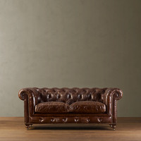 76&quot; Kensington Leather Sofa