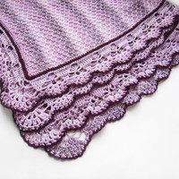 Knitted Baby Blanket  Violet by SasasHandcrafts on Etsy
