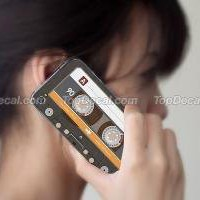 Cassette Tape iPhone 4 Skin Style E
