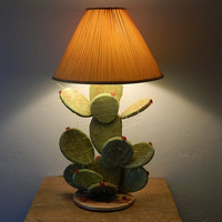 Prickly Pear Cactus Table Lamp