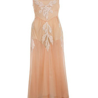 Peach Applique Midi Dress - View All - Dress Shop - Miss Selfridge US