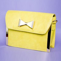 Yellow Fields Handbag- Yellow Bow bag- $47