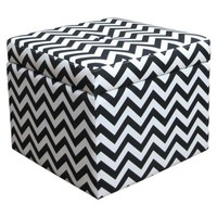 Chevron Storage Ottoman