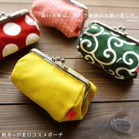 Japanese &quot;purse frame make up pouch&quot; from ebisu - JAPAN