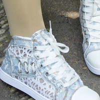 Lace Trainers Converse Style from sniksa