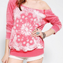 Painted Bandana Print Sweatshirt
