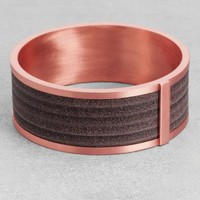 Leather and Brass Bangle | Brown Dark | & Other Stories