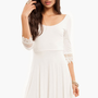 Crochet and Flare Dress $44