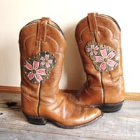$70.00 Customize Your Cowboy Boots  Hand Tooled Leather by OneLaneRoad