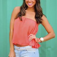 RESTOCK Set For Summer Crop Top: Coral | Hope's