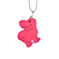 Hippo NecklaceHot Pink Plexiglass JewelryLasercut by bugga on Etsy