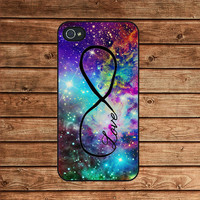 Fox nebula and infinity love--iphone 4 case,iphone 4s case,in plastic or silicone case