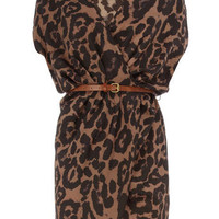 Animal print crossover dress - View All - Dresses - Dorothy Perkins United States