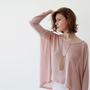 Knit shirt , Pink Blush , Oversized Women Top