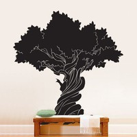Vinyl Wall Decal Sticker Old Wise TREE 72x66 6ft Tall | stickerbrand - Housewares on ArtFire