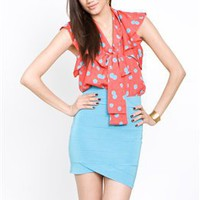 Collective Concepts Ruffled Top- Collective Concepts Polka Dot Tops- Collective Concepts- $51.99