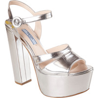 Prada Metallic Platform Sandal at Barneys.com