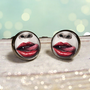 Vampire Lips Earrings  True Blood  Gunmetal Post by Lizabettas