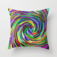 Twist Throw Pillow by Glanoramay