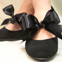 Peek a Bow Flirty Footlet  satin bow by CatherineColeStudio