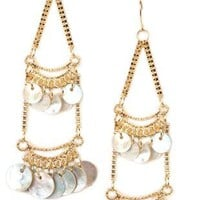 2 row hanging disc earrings - 1000047127 - debshops.com