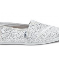 White Crochet Women&#x27;s Classics | TOMS.com