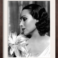 Portrait of Dolores Del Rio, c.1934 Pre-made Frame at Art.com