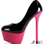 Hot Pink Stiletto Patent Leather High Heel