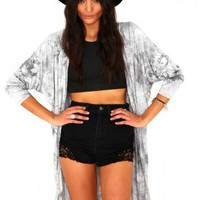 Missguided - Chaya Draped Tie Dye Cape