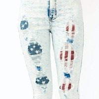 destroyed-acid-wash-jeans LTBLUE - GoJane.com
