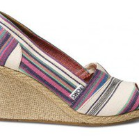 Village Stripe Women's Wedges | TOMS.com