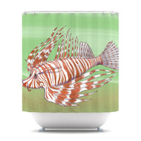 "Catherine Holcombe ""Fish Manchu"" Shower Curtain 