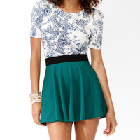 Floral Gathered Sleeve Top