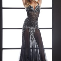 Jasz Couture 4614 Black Stretch Gown