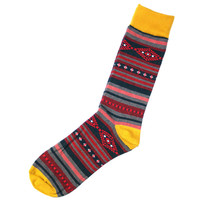 Red Striped Socks Mens One Size Fits All