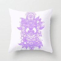 Purple Henna Throw Pillow by haleyivers