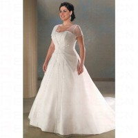 Elegant Taffeta Square A line Semi-cathedral Train Wedding Gowns - Wedding Dresses - Apparel