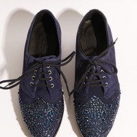 Suede crystal brogues [Mii8023] - $228.00 : Pixie Market, Fashion-Super-Market