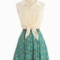 Spring Crossings Belted Dress By Reverse | Modern Vintage New Arrivals