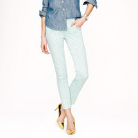 Cropped matchstick jean in dotted spearmint - denim - Women&#x27;s new arrivals - J.Crew
