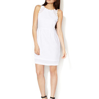 Studded Sheer Yoke Dress by Alex + Alex at Gilt
