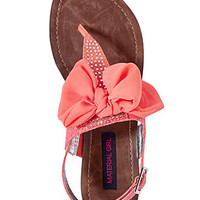 Material Girl Shoes, Solar Flat Thong Sandals - - Macy&#x27;s