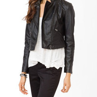 Faux Leather Studded Jacket | FOREVER 21 - 2018312146