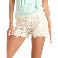 Scalloped Hem Crochet Short: Charlotte Russe