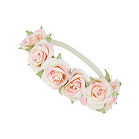 Vintage rose head band