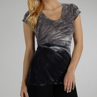 Black & White Rock Candy Tie-Dye Tee