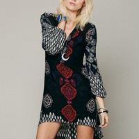 Free People Peacemaker Print Shapeless Dress